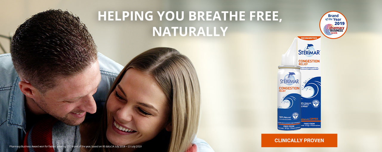 HELPING YOU BREATHE FREE, NATURALLY - Pharmacy Business Award won for fastest growing OTC brand of the year, based on IRI data 14 July 2018 – 13 July 2019 - CLINICALLY PROVEN